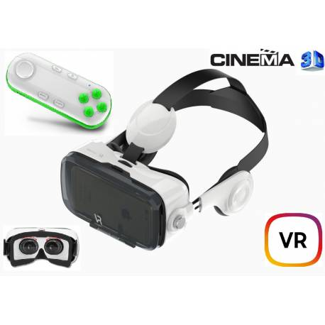 Cinema 3D VR Kit Lentes Audio HiFi Gamepad Bluetooth